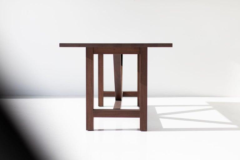 Contemporary Farm Table, Walnut For Sale