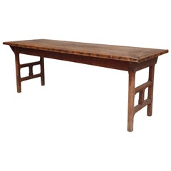 Farm Table with Unique Base, 19th Century, American