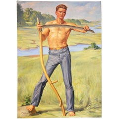"""Farmer with Scythe,"" Depiction of American Worker by U.S. Capitol Muralist"