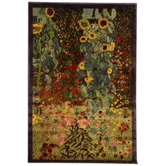 Silk Carpet by Gunther Lambert inspired by the Painting Farm Garden by Klimt