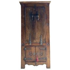 Farmhouse Cupboard Table Primitive 16th Century Dutch Solid Oak