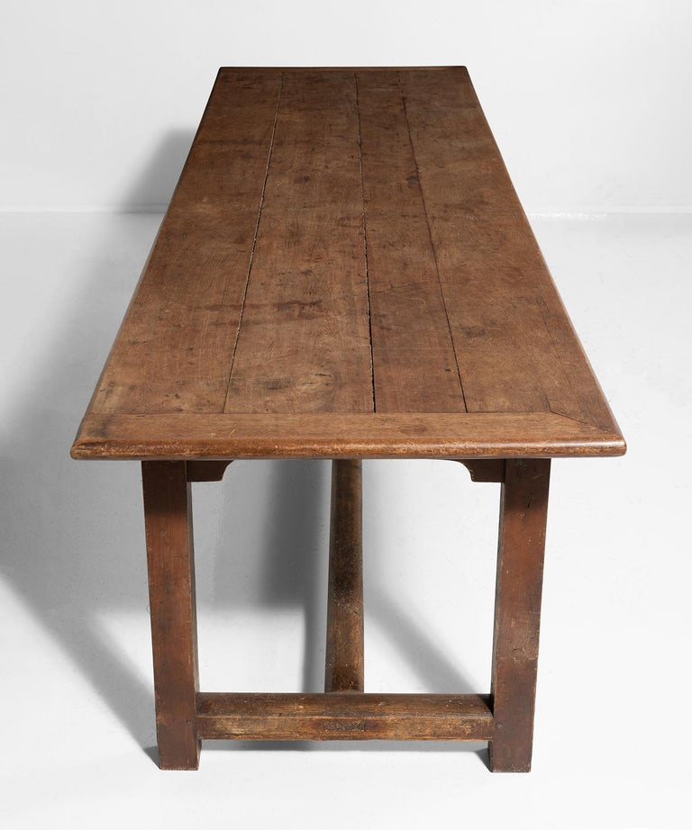 Farmhouse Dining Table In Good Condition For Sale In Culver City, CA