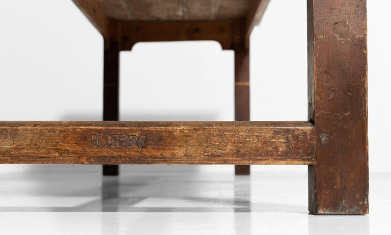 19th Century Farmhouse Dining Table For Sale