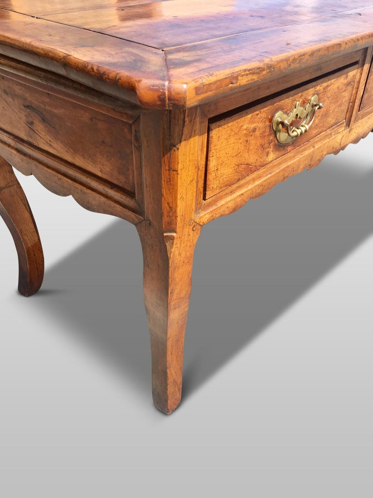 French Provincial Farmhouse Dresser / Server, Cherry wood, circa 1820 For Sale