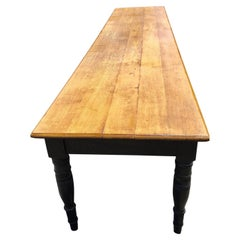 Farmhouse Table, English Oak. 156 inches long. 13 feet.