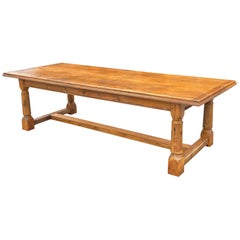 Farmhouse Table, English Pine, circa 1880.  108 ins long. 43ins wide