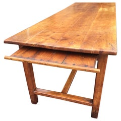 Farmhouse Table, Cherry wood. French, C 1860