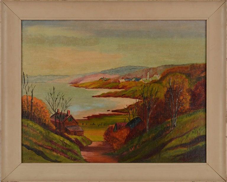 Farris Landscape Painting - Mid Century Autumn Valley Landscape