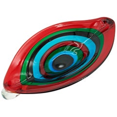 Fasce Centerpiece Giant Eye Bowl Fulvio Bianconi IVR Mazzega Murano Sommerso