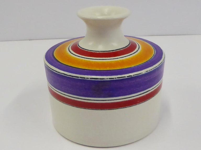 Mid-Century Modern Fascie Colorate Ceramic Vase by Aldo Londi for Rosenthal Netter Bitossi, 1970s For Sale
