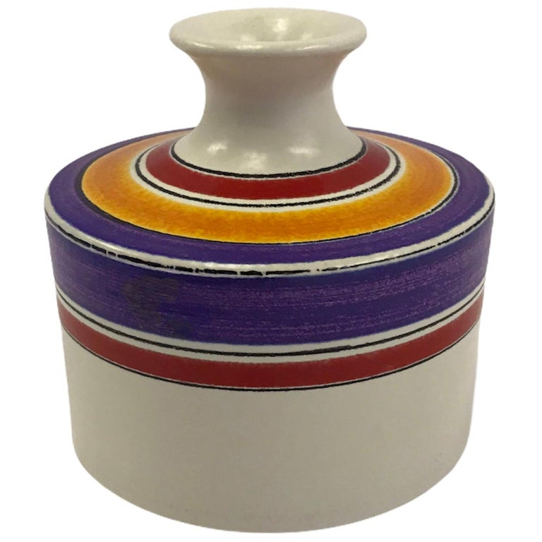 Fascie Colorate Ceramic Vase by Aldo Londi for Rosenthal Netter Bitossi, 1970s For Sale