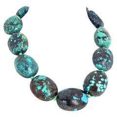 Fascinating Artistic Natural Turquoise Necklace