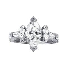 Fascinating Three-Stone Diamond Engagement Ring