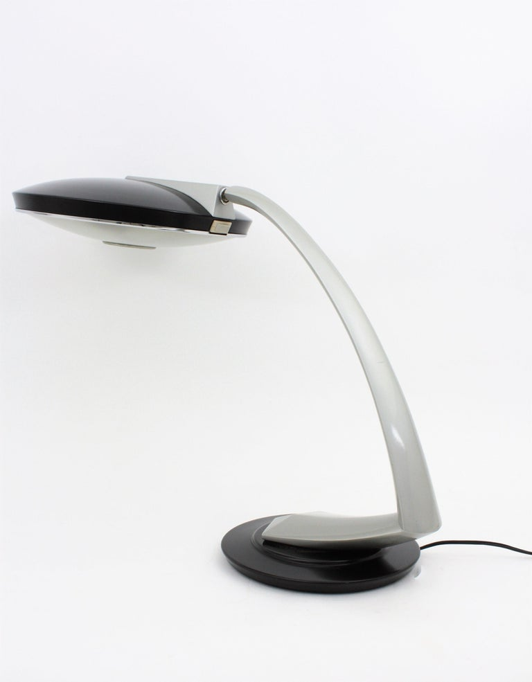 Fase Boomerang 2000 Black and Grey Table Lamp, 1960s For Sale 4