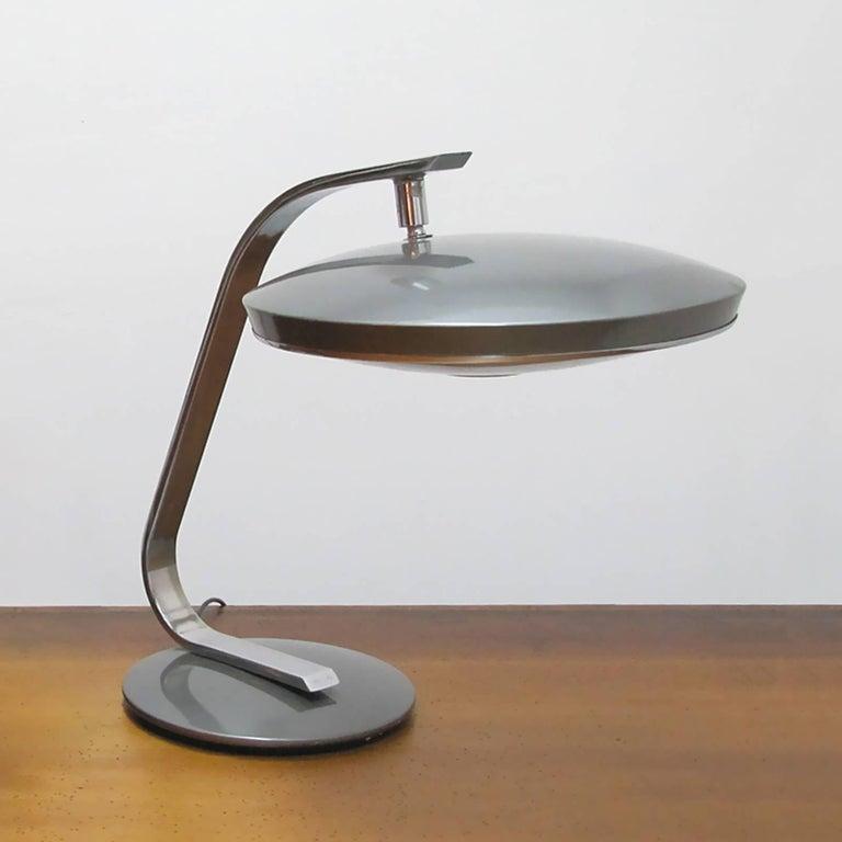 Enameled Fase Madrid Desk Lamp, 1964 For Sale