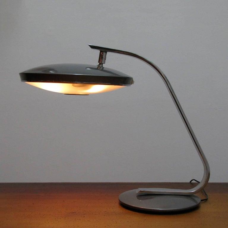 Chrome Fase Madrid Desk Lamp, 1964 For Sale