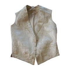Fashion Antique Italian Damask Petite Unisex Vest