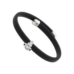 Fashion Bracelet 925 Silver and Rubber
