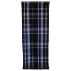 Fashion Burberry Style Black and Blue Unisex Scarf