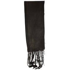 Fashion: Dark Grey and Stripe Mud Cloth Unisex Scarf