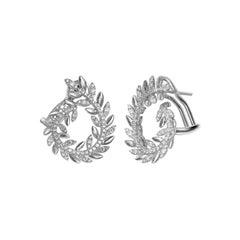 Fashion Diamond Fine Jewellery White Gold Earrings