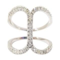 Fashion Diamond Ring 14 Karat White Gold