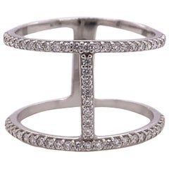 Fashion Diamond Ring in White Gold