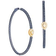 Fashion Diamond White 18 Karat Gold Earrings for Her
