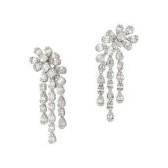 Fashion Diamond White 18K Gold Earrings for Her