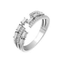 Fashion Diamond White Gold 18 Karat Ring