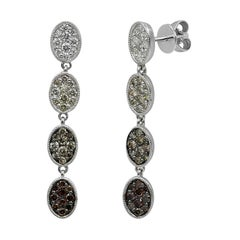 Fashion Diamond White Gold Earrings