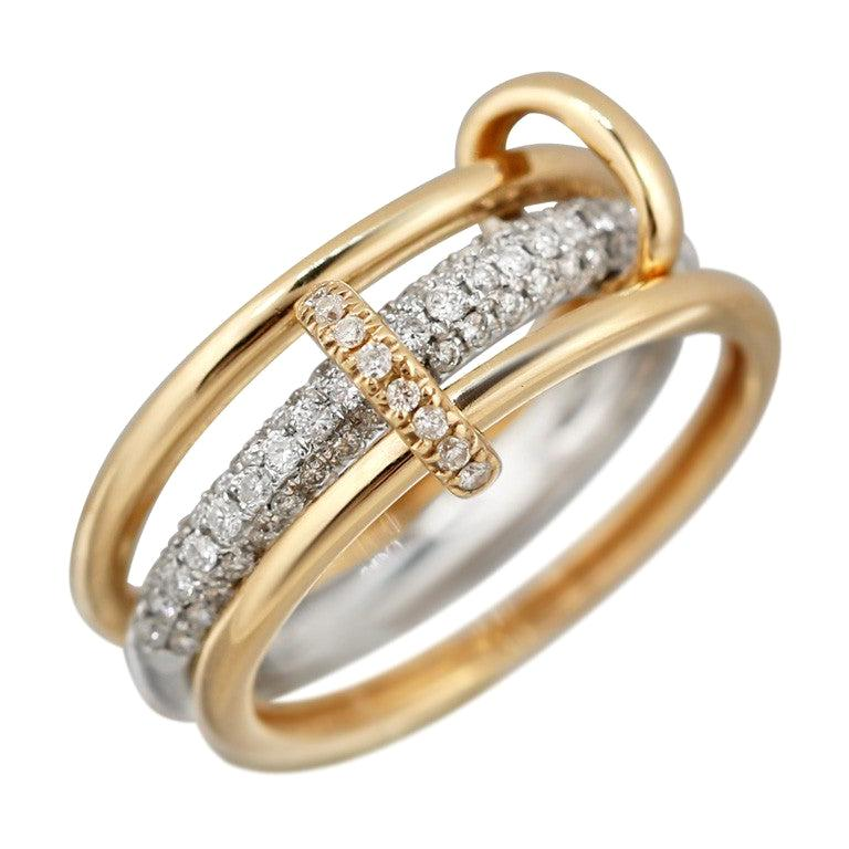 Fashion Diamond Yellow Gold Ring