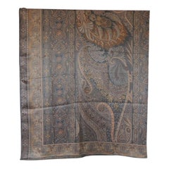 Fashion: Large Acetate Square Paisley Scarf/Shawl
