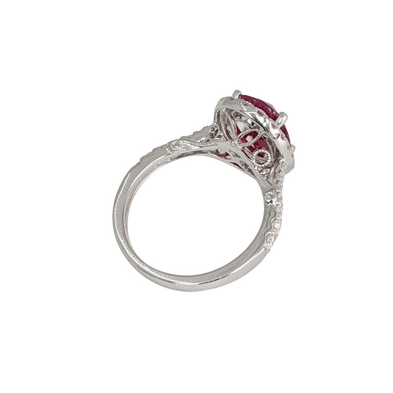 Women's  Oval Ruby or Diamond Ring For Sale