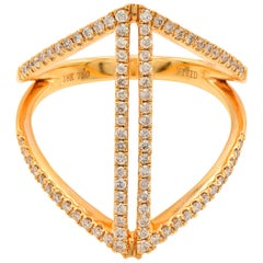 Fashion Rose Gold and Diamond Ring