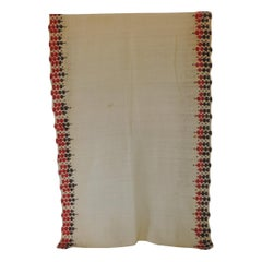Fashion Vintage Grey and Red Embroidered Turkish Unisex Scarf