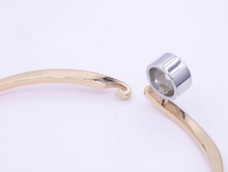 Women's Diamond Floating Bangle 1.73 Carat Platinum 18K Rose Gold For Sale