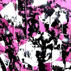 3 Pareidolic figures on pink background