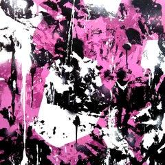 4 Pareidolic figures on pink background