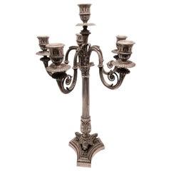 Fassi Arno Italian Large Silver Six-Light Candelabrum