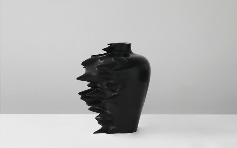 The archetype of a Ming vase frozen in digital acceleration.