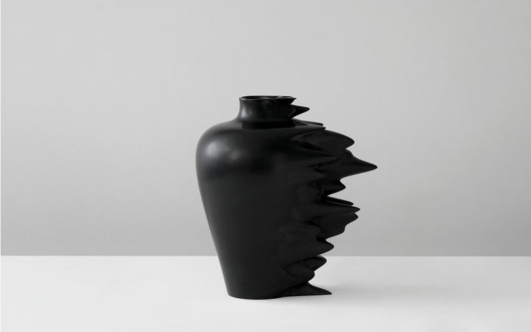 Other Fast, Vase in Corian, Black or White, YMER&MALTA, France For Sale