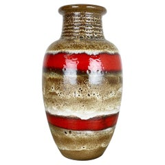Fat Lava Ceramic Pottery Floor Vase Heinz Siery Carstens Tönnieshof Germany 1970