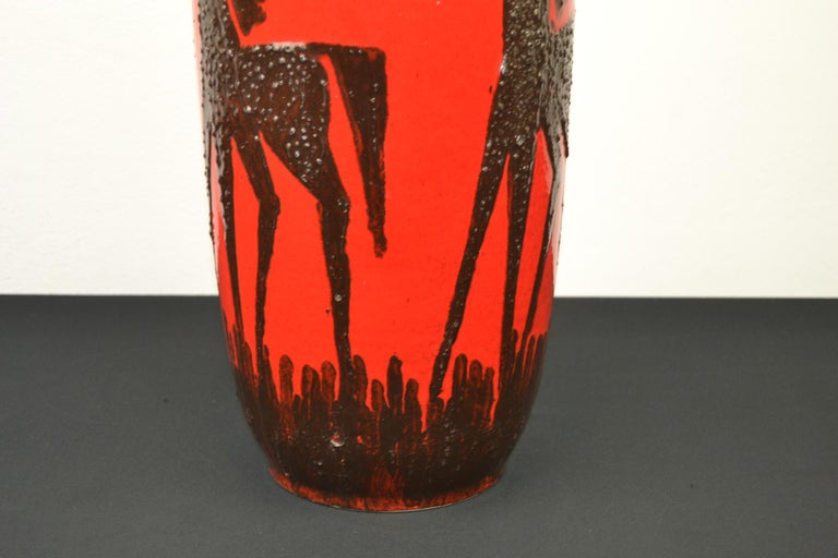 Fat Lava Horses Vase by Scheurich, Western Germany, 1960s For Sale 6