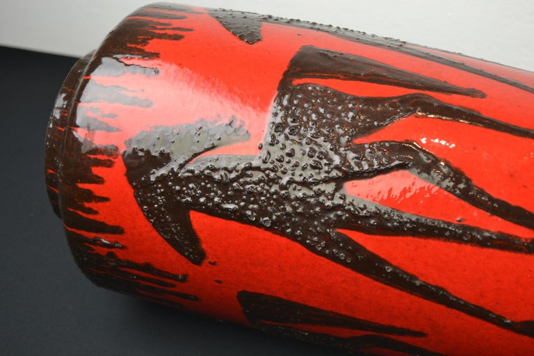 Fat Lava Horses Vase by Scheurich, Western Germany, 1960s For Sale 7
