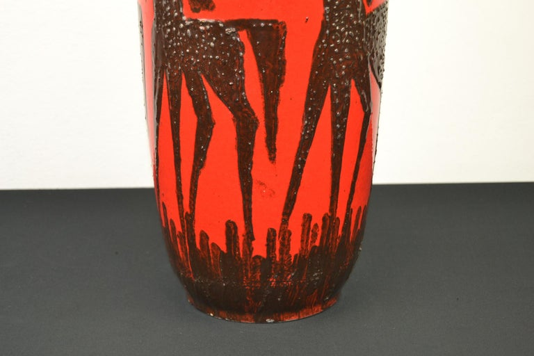 Fat Lava Horses Vase by Scheurich, Western Germany, 1960s For Sale 3