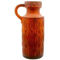 "Fat Lava 'Scheurich' Decor ""Amsterdam"" Large Jar, Vintage W-Germany, 1964"