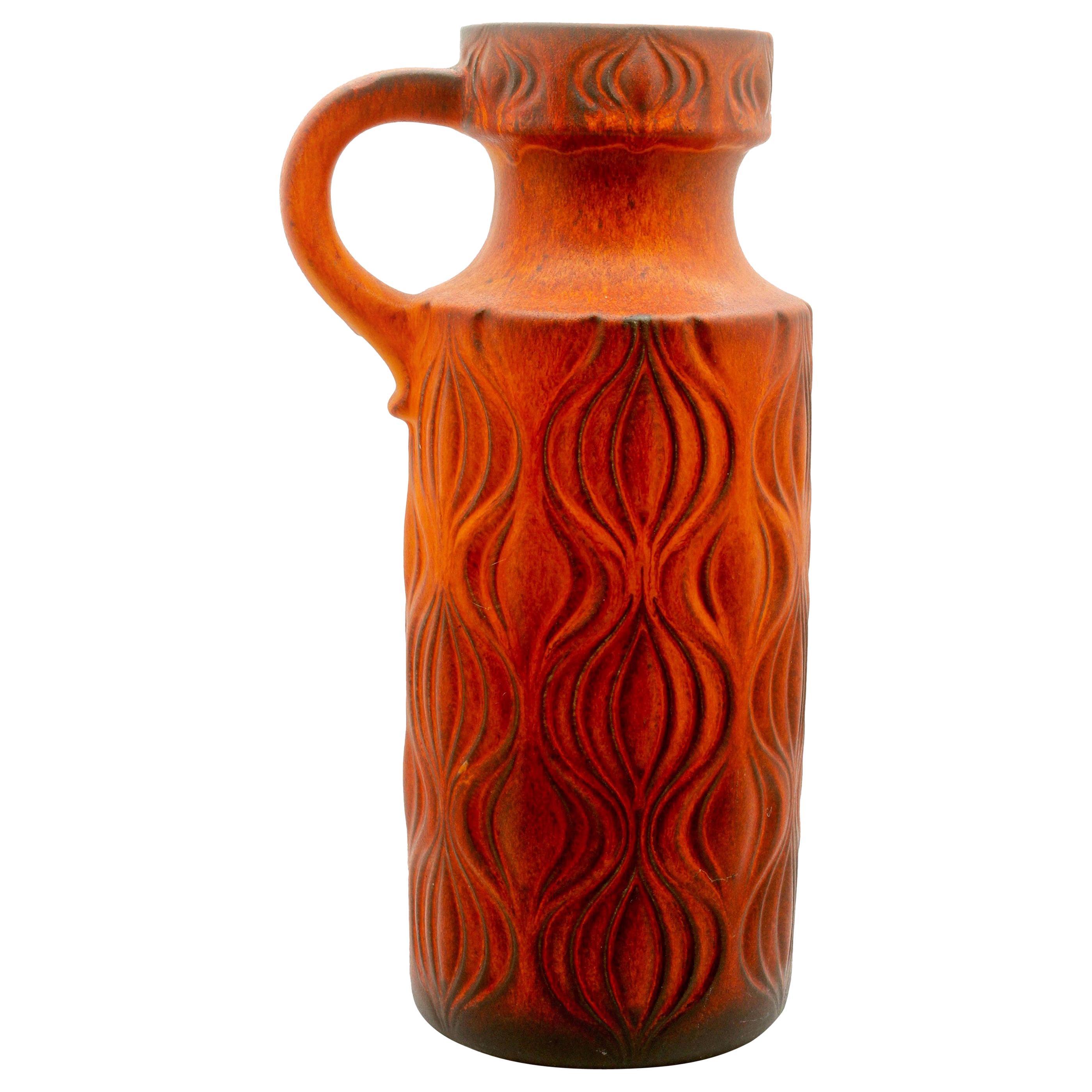 "Fat Lava 'Scheurich' Decor ""Amsterdam"" Large Jar, Vintage, W-Germany, 1964"