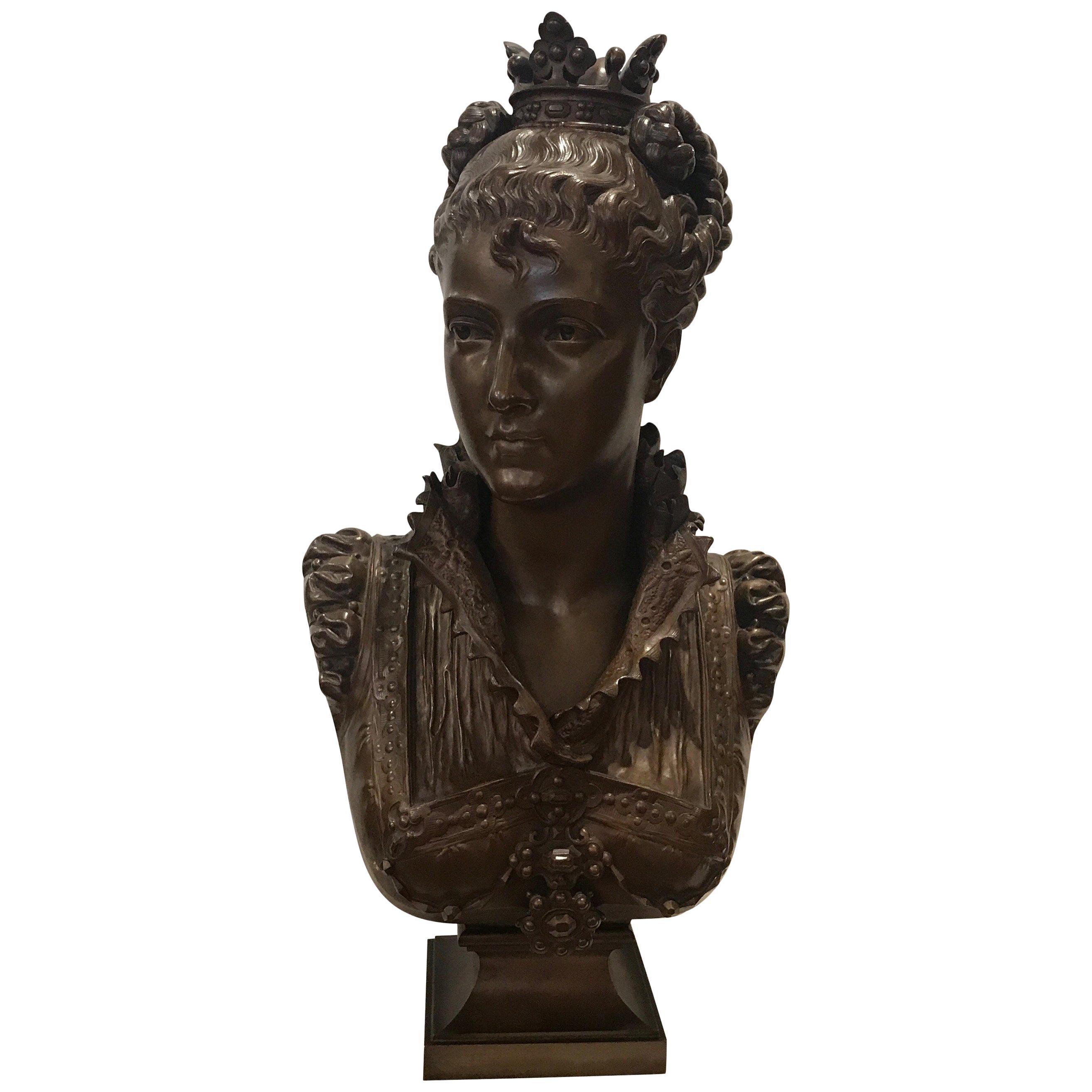 Faure De Brouysse Bronze Bust, France, 19th Century