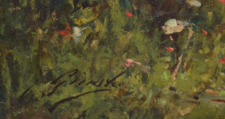 Barbizon painting of Nude Fausto Giusto Nom de guerre for Eugene Galien-Laloue For Sale 2